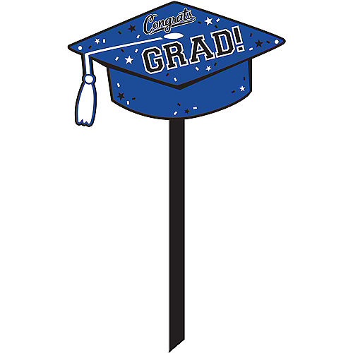 Blue Congrats Grad Yard Sign Image #1