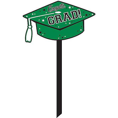 Green Congrats Grad Yard Sign Image #1