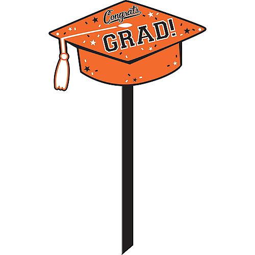 Orange Congrats Grad Yard Sign Image #1