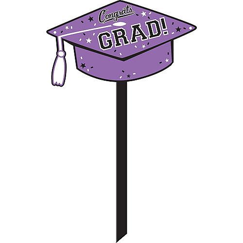 Purple Congrats Grad Yard Sign Image #1