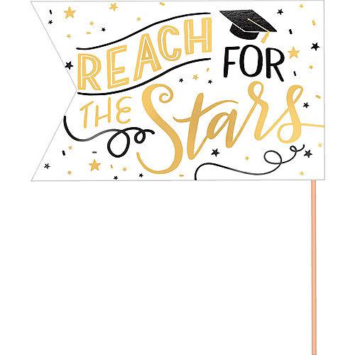 Metallic Gold Graduation Pennant Banners 6ct Image #2