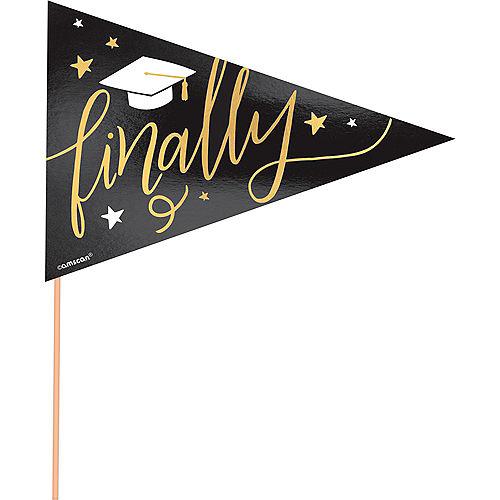 Metallic Gold Graduation Pennant Banners 6ct Image #3