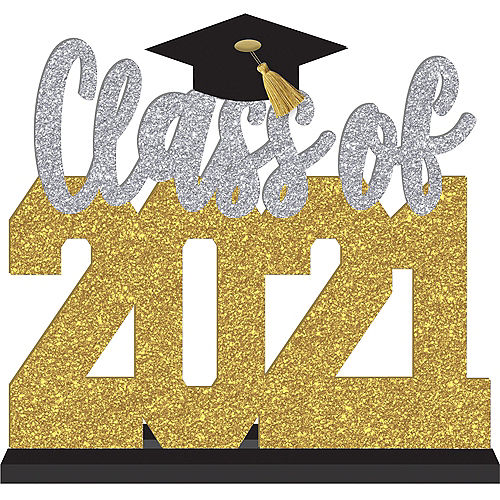 Glitter Class Of 2021 Fiberboard Block Letter Sign Image #1