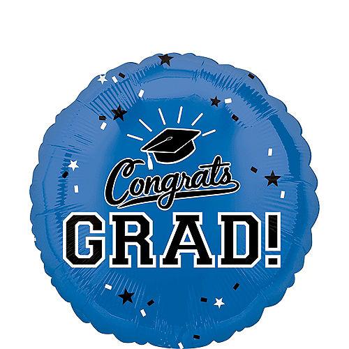Blue Congrats Grad Balloon Image #1