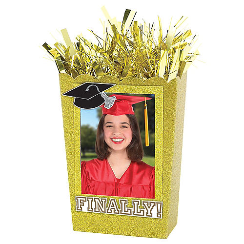 Large Personalized Gold Graduation Balloon Weight Centerpiece Image #1