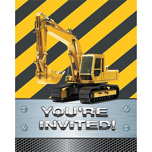 Construction Zone Invitations 8ct Image #1