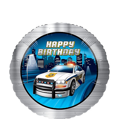 Police Birthday Balloon, 18in Image #1