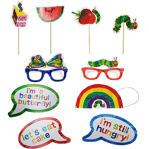 The Very Hungry Caterpillar Photo Booth Props 10ct Image #1