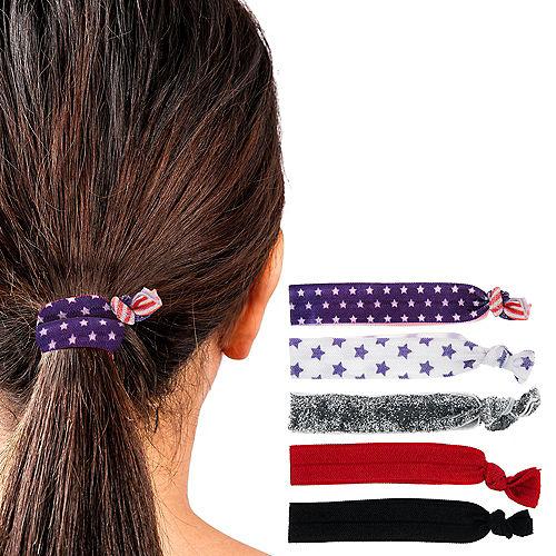 Patriotic Hair Ties 5ct Image #1