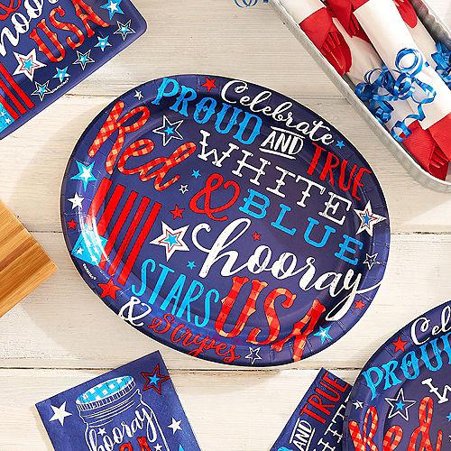 Patriotic Proud & True Oval Plates 18ct Image #2