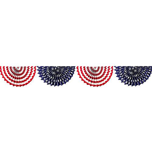 Patriotic American Flag Paper Bunting Garland Image #1