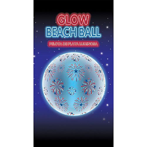 Patriotic Glow-in-the-Dark Beach Ball Image #3