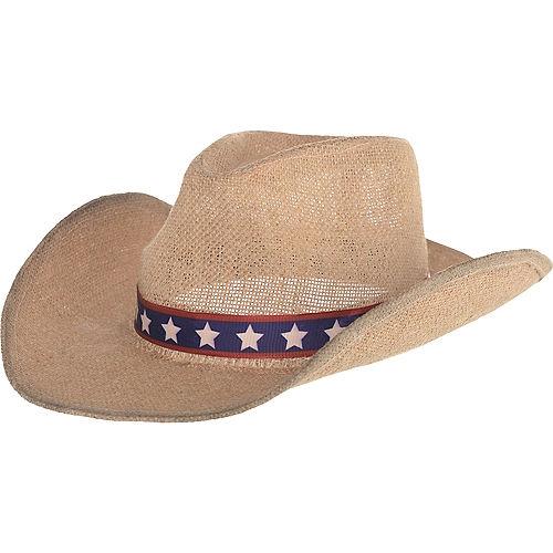 Patriotic Burlap Cowboy Hat Image #1