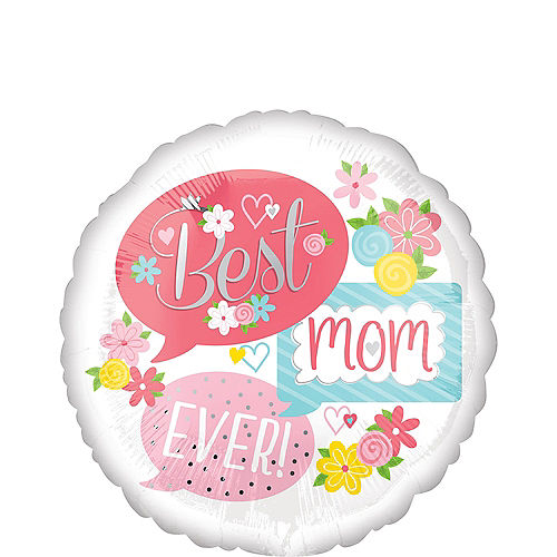 Best Mom Ever Balloon, 17in Image #1