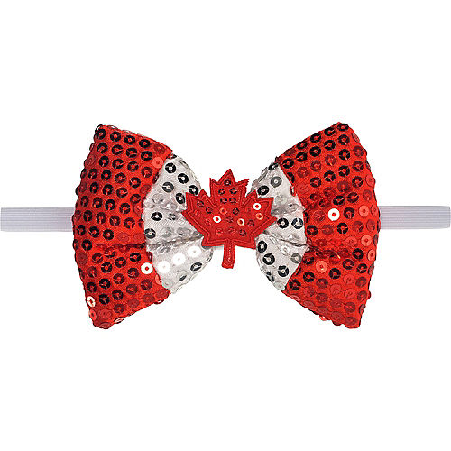 Sequin Canadian Maple Leaf Bow Tie Image #1
