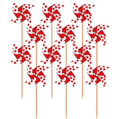 Canadian Flag Pinwheel Picks 20ct Image #1