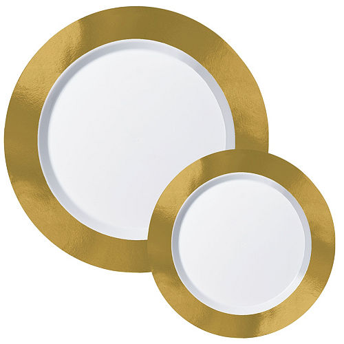 Premium Gold Border Tableware Kit for 20 Guests Image #2