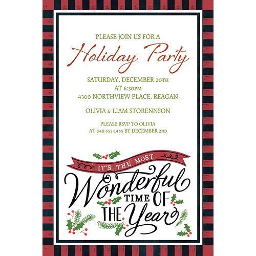 Custom Most Wonderful Time Invitations Image #1
