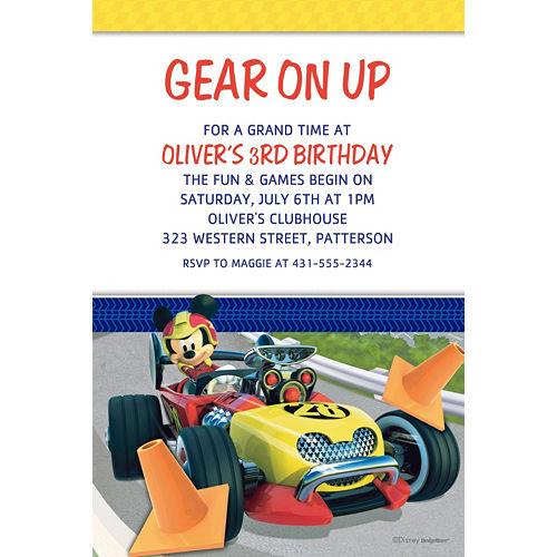 Custom Mickey & the Roadster Racers Invitations Image #1