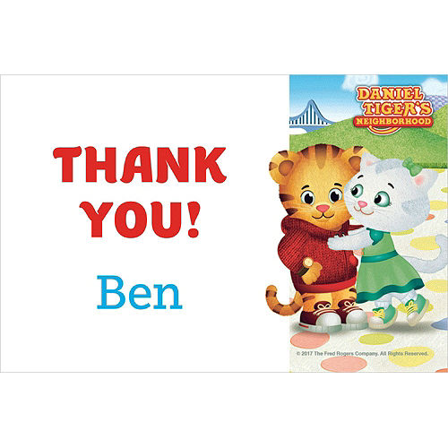 Custom Daniel Tiger's Neighborhood Thank You Notes Image #1