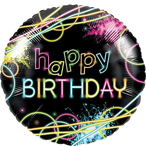 Neon Happy Birthday Balloon Image #1