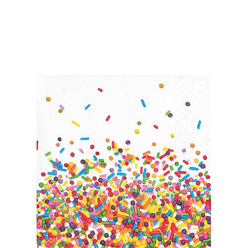 Rainbow Sprinkles Beverage Napkins 16ct Image #1
