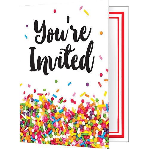 Rainbow Sprinkles Invitations 8ct Image #1