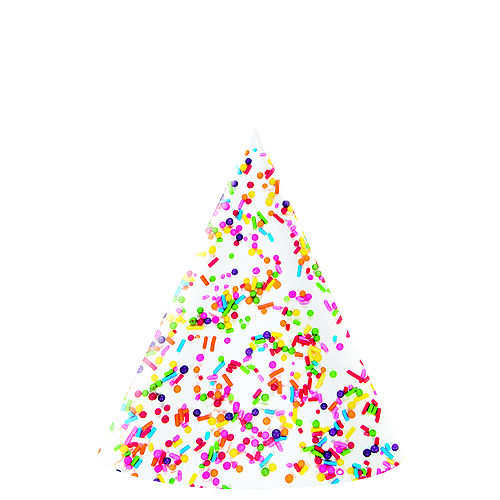 Rainbow Sprinkles Party Hats 8ct Image #1