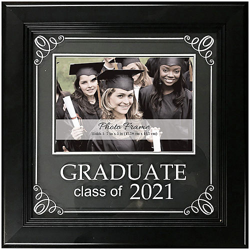 Class of 2021 Graduation Plastic Photo Frame, 9.5in x 9.5in Image #1