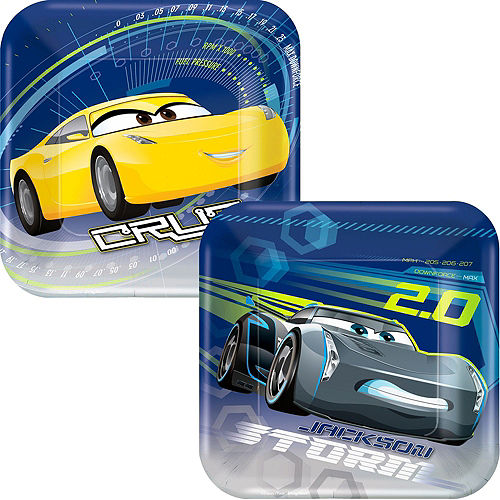 Cars 3 Tableware Party Kit for 16 Guests Image #2