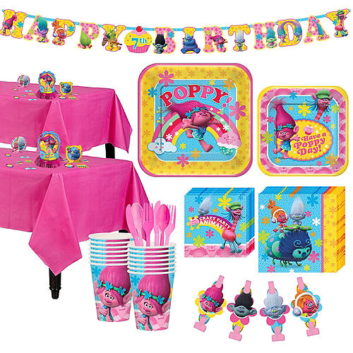 Trolls Tableware Party Kit for 16 Guests Image #1