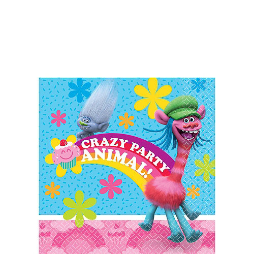 Trolls Tableware Party Kit for 16 Guests Image #8
