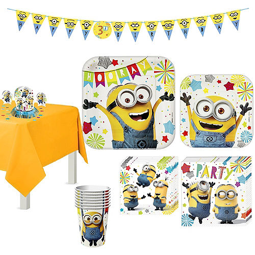 Minions Tableware Party Kit for 8 Guests Image #1