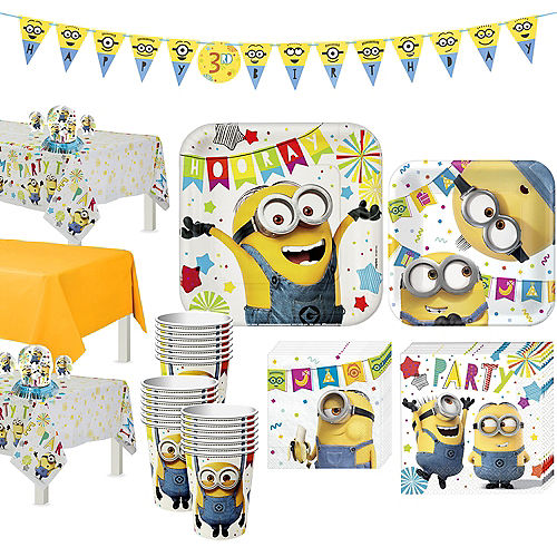 Minions Tableware Party Kit for 24 Guests Image #1