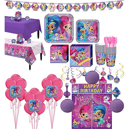 Shimmer and Shine Tableware Ultimate Kit for 16 Guests Image #1
