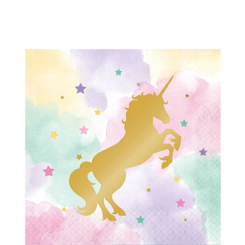 Sparkling Unicorn Tableware Ultimate Kit for 16 Guests Image #5