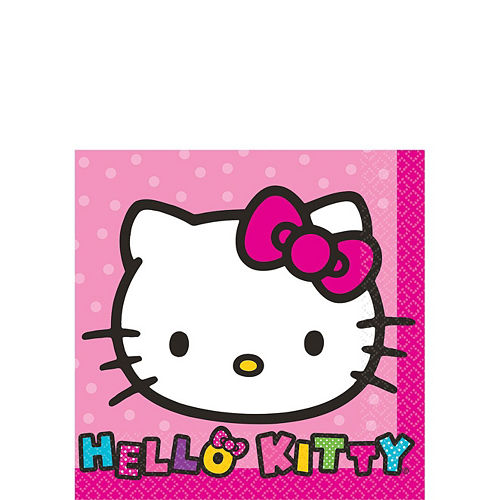 Rainbow Hello Kitty Tableware Party Kit for 8 Guests Image #4