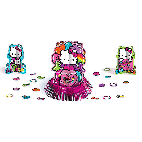 Rainbow Hello Kitty Tableware Party Kit for 8 Guests Image #9