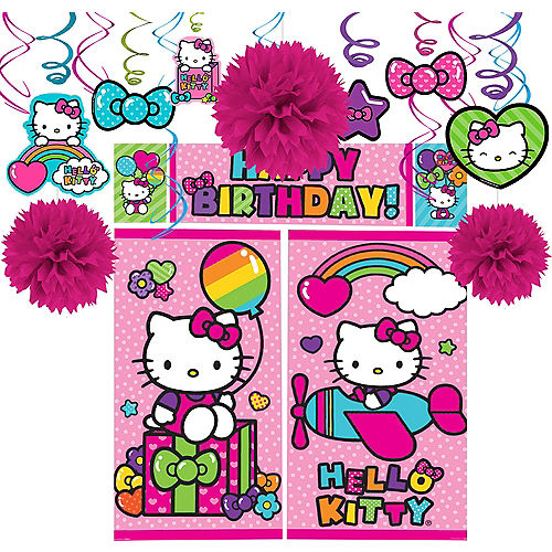 Rainbow Hello Kitty Decorating Kit Image #1