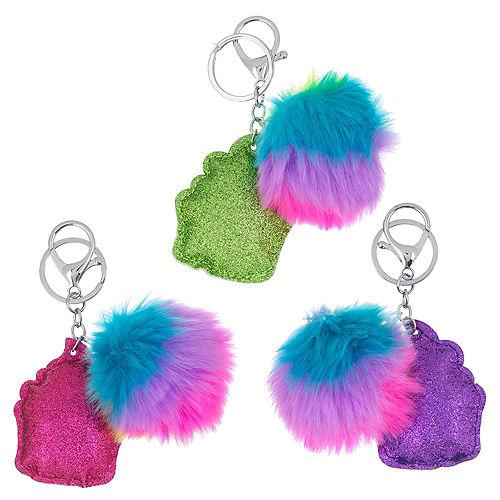 Glitter Cupcake Keychain with Pom-Pom Image #1