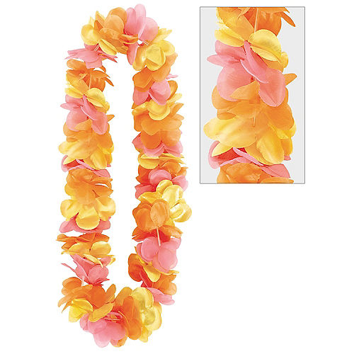 Metallic Warm Flower Lei Image #1