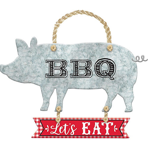 Pig BBQ Stacked Sign Image #1