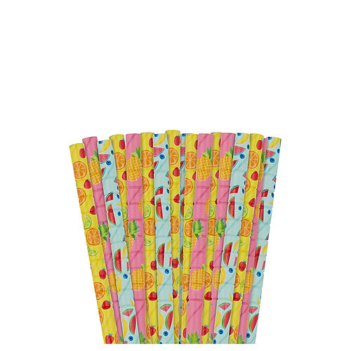 Hello Summer Flexible Paper Straws 24ct Image #1