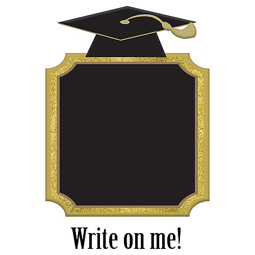 Gold Graduation Chalkboard Stand Image #1