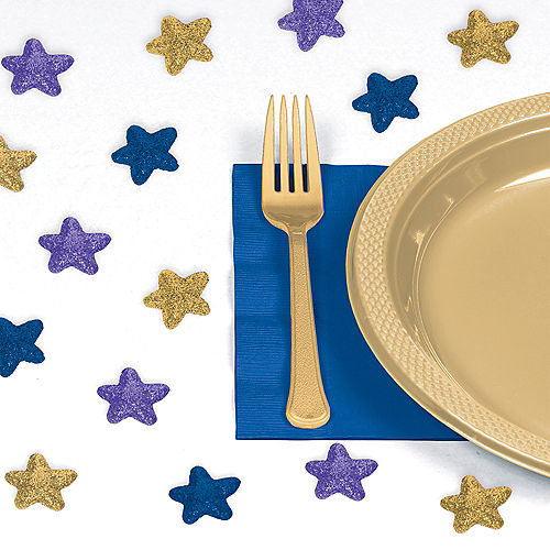 Glitter Star Eid Table Scatter 32ct Image #1