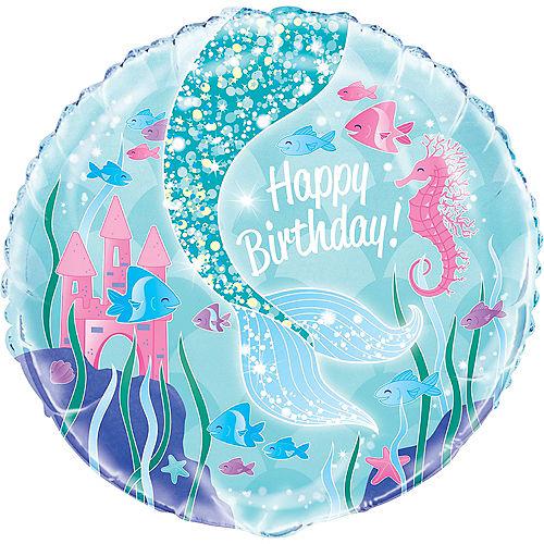 Mermaid Happy Birthday Balloon Image #1