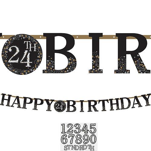 Sparkling Celebration Happy Birthday Banner Kit Image #1