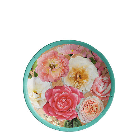 Floral & Lace Rustic Wedding Canape Plates 8ct Image #1