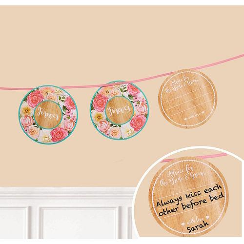 Floral & Lace Rustic Wedding Advice Cards Set Image #1