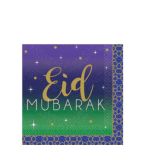 Eid Mubarak Beverage Napkins 16ct Image #1